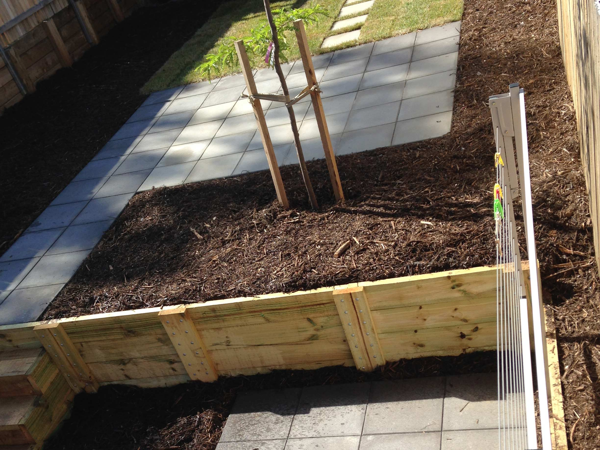 Tay Street, ACT. Paving, Turfing, Gardening and Retaining Wall 2