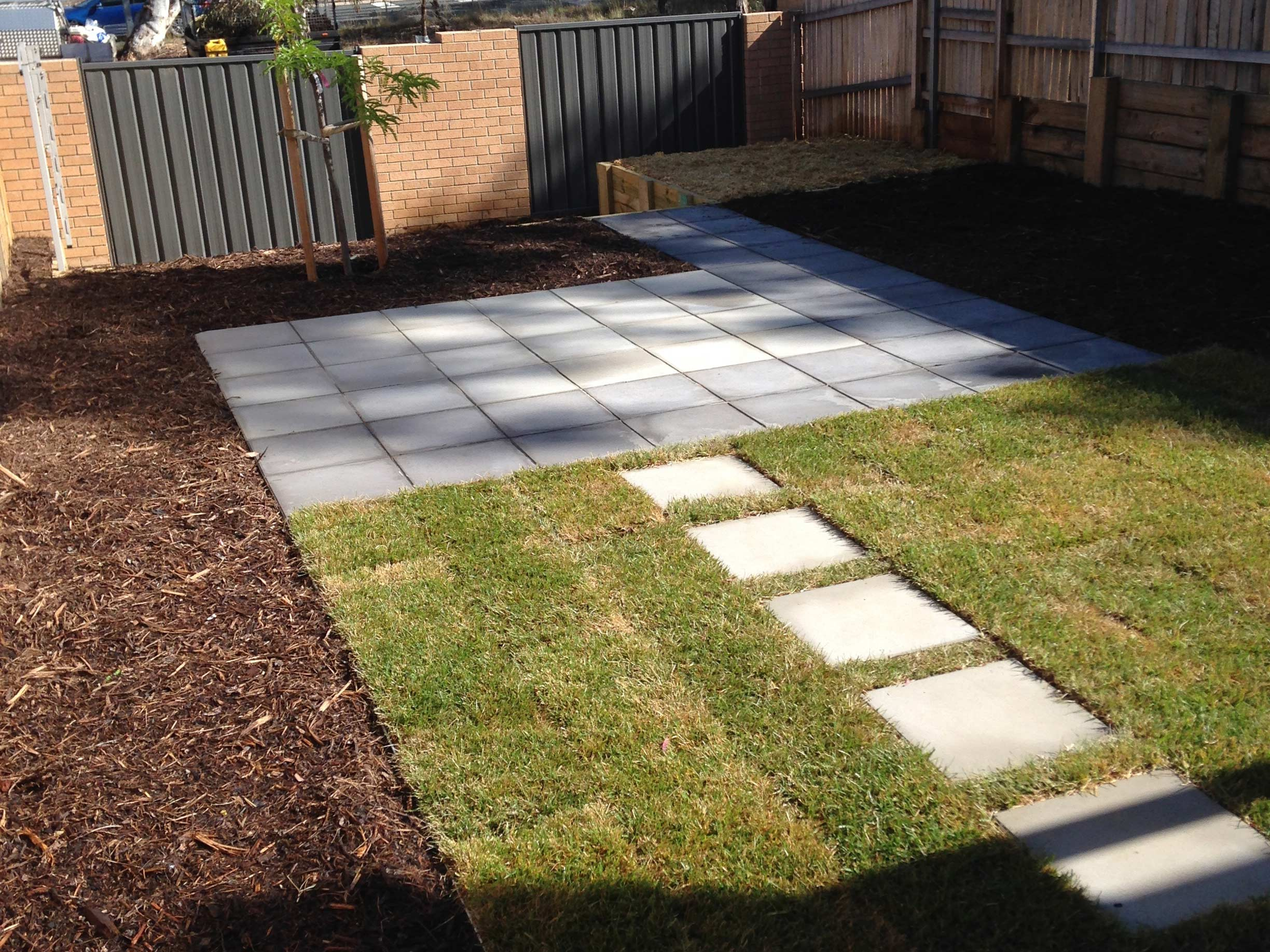 Tay Street, ACT. Paving, Turfing, Gardening and Retaining Wall 3