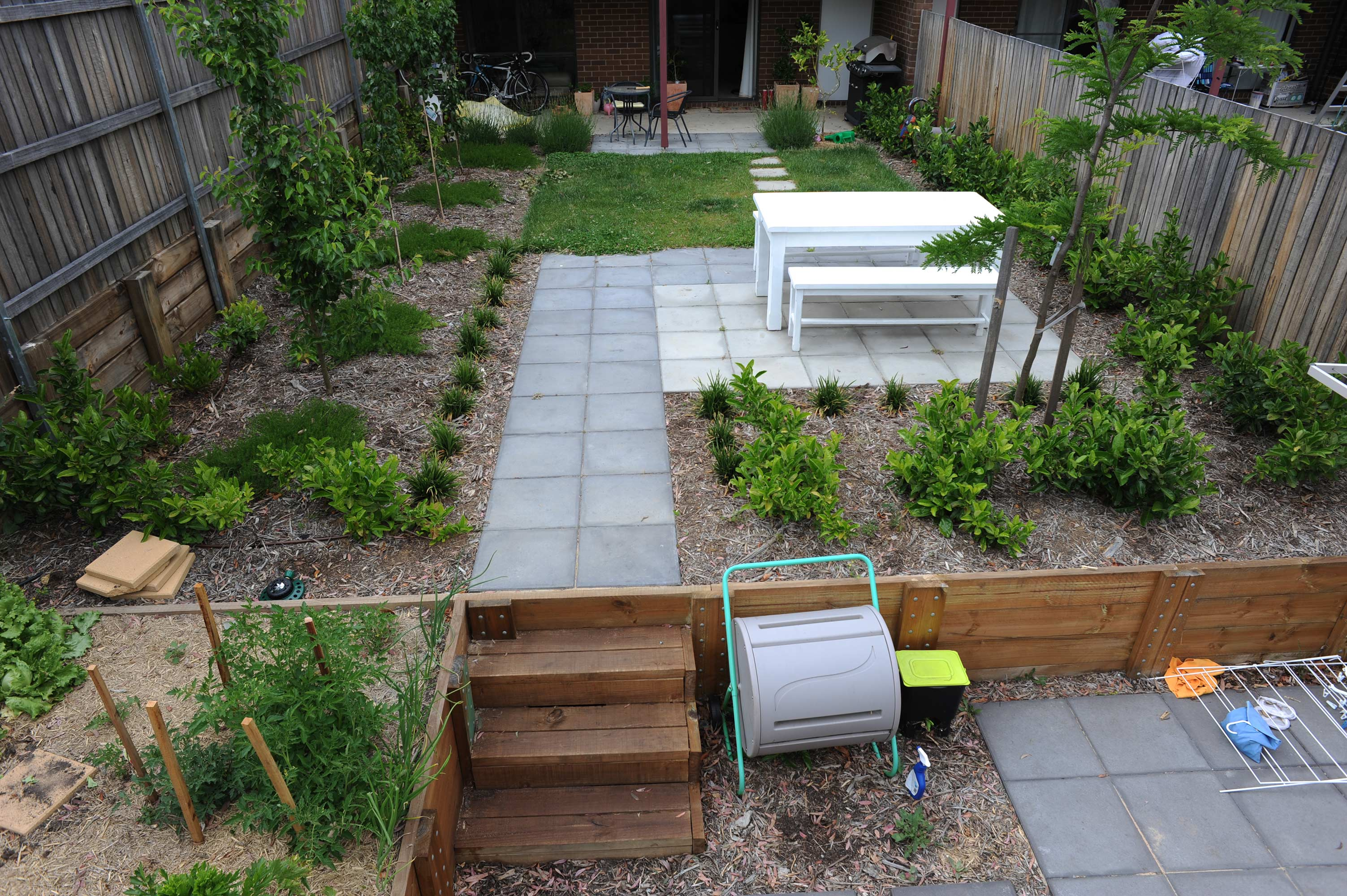 Tay Street, ACT. Paving, Turfing, Gardening and Retaining Wall 8
