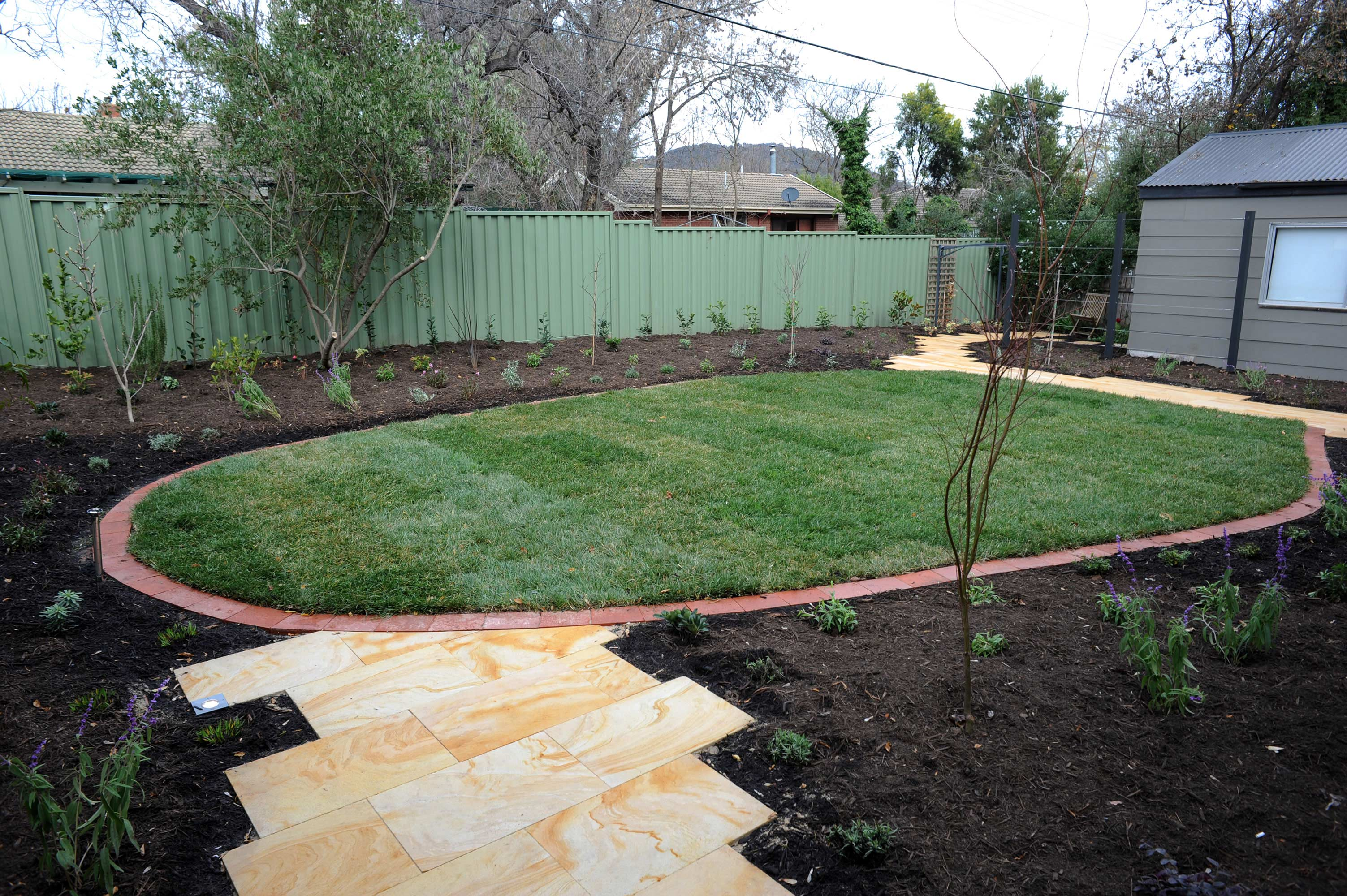 Antill Street, ACT. Paving, Turfing and Planting 2