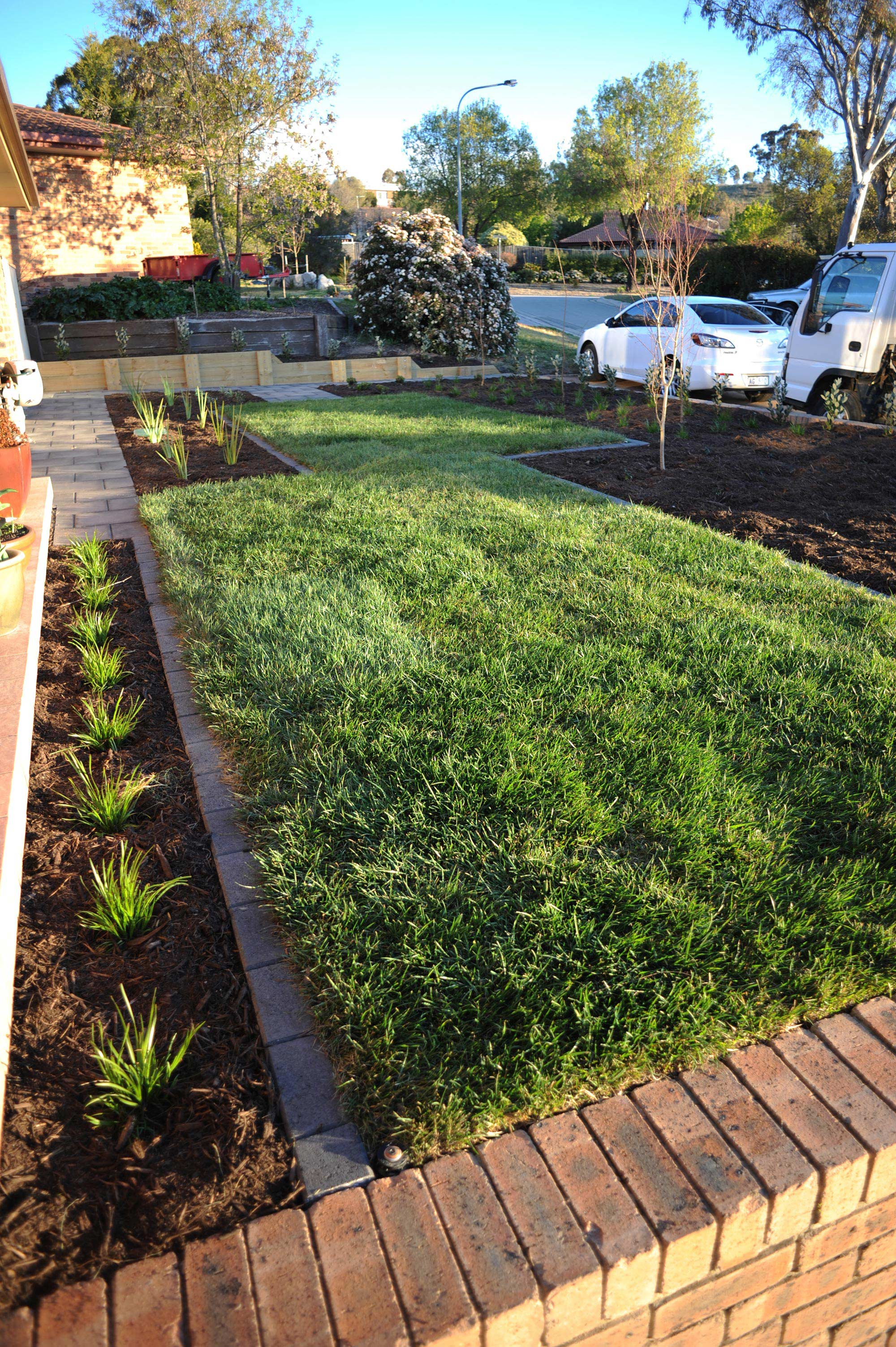 Cousin Place, ACT. Turfing, Gardening and Paving 4