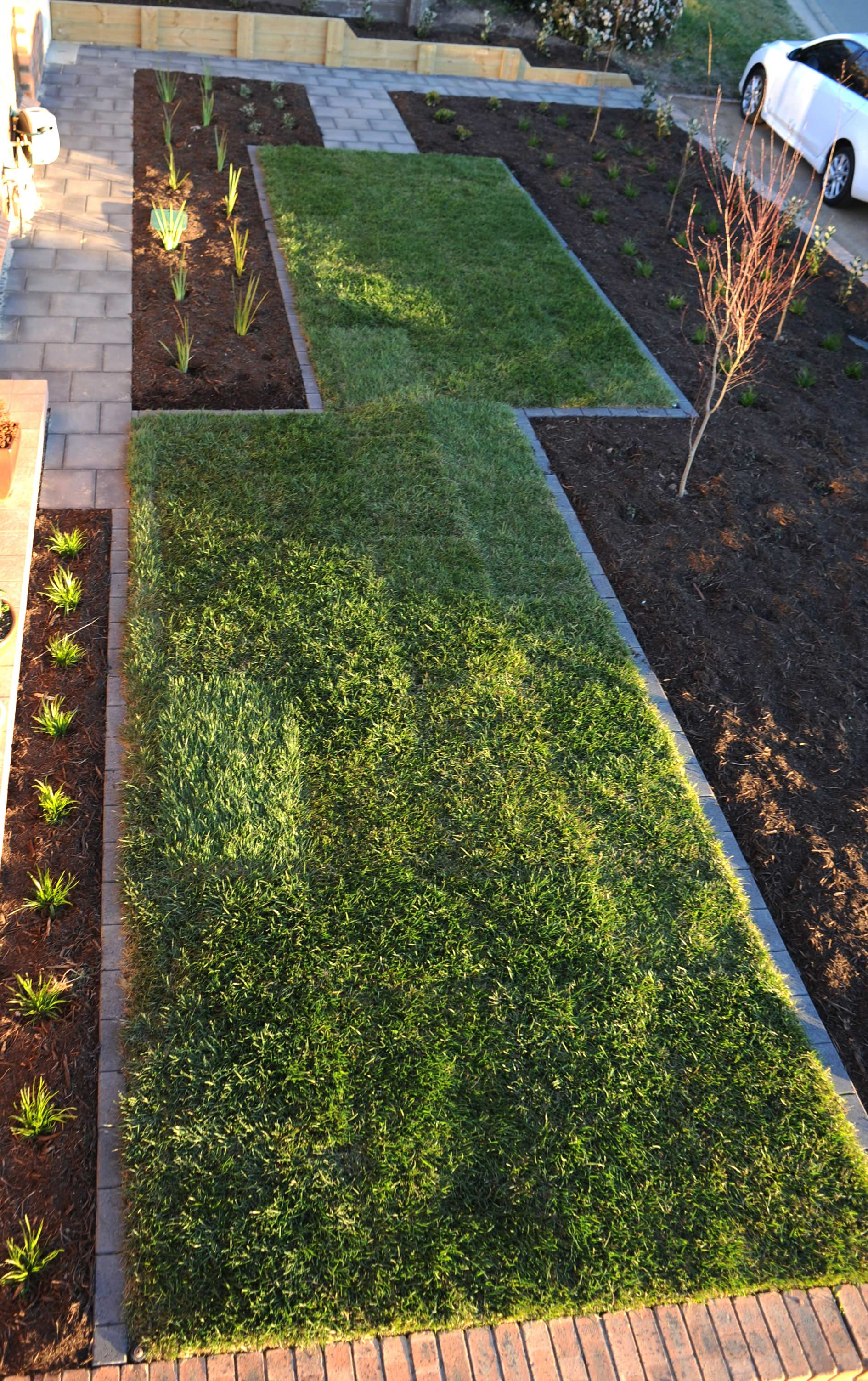 Cousin Place, ACT. Turfing, Gardening and Paving 6