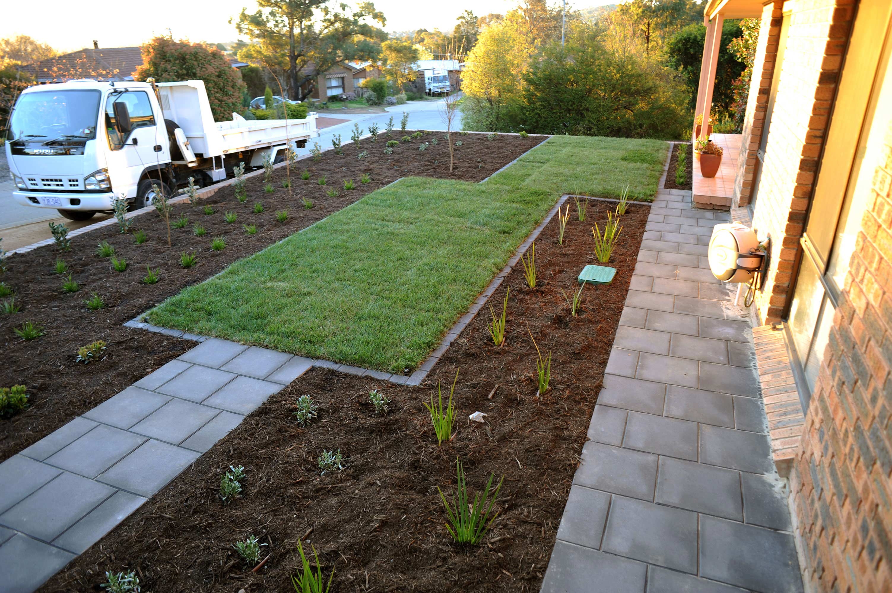Cousin Place, ACT. Turfing, Gardening and Paving 7