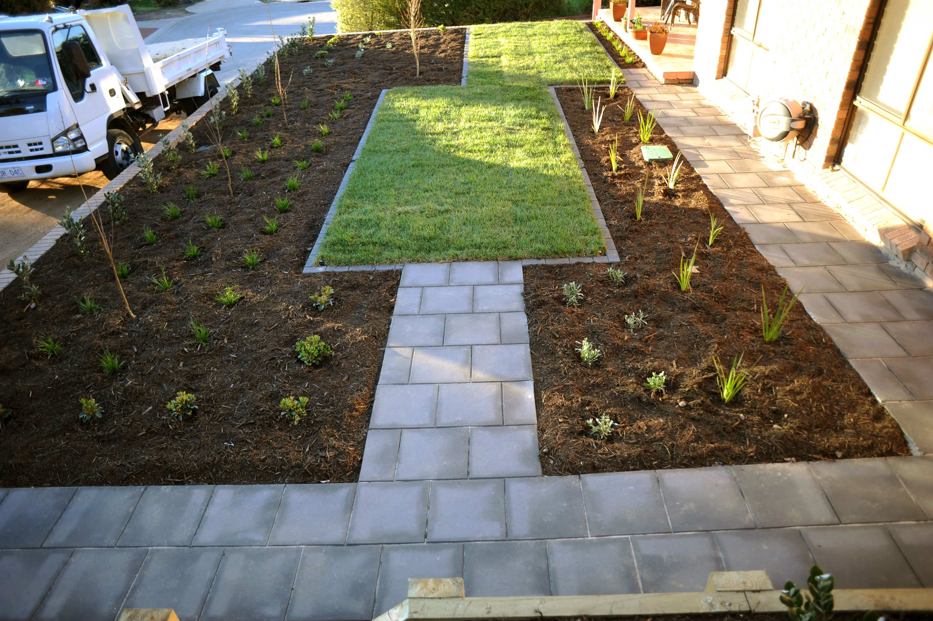 Cousin Place, ACT. Turfing, Gardening and Paving 8